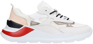 D.A.T.E Sneakers In White Leather And Fabric