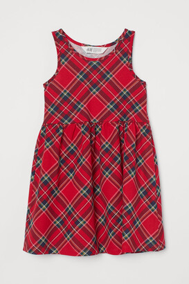 H&M Patterned Jersey Dress - Red