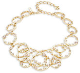 Oscar de la Renta Crystal-Accented Textured Ring Statement Necklace