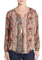 Collective Concepts Paisley-Print Peasant Top