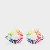 Paul Smith Men's Gradient Stripe Edge Circular Cufflinks