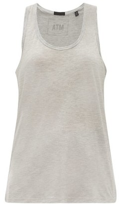 ATM - Racer-back Stretch-modal Tank Top - Womens - Grey