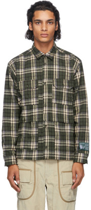 Reese Cooper Green Flannel Check Shirt