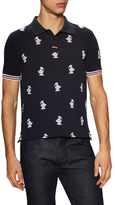 Moncler Graphic Embroidered Pique Polo