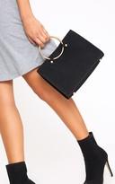 PrettyLittleThing Black Ring Handbag