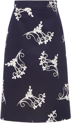 Prada Printed Knee-Length Skirt