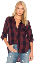 Bella Dahl Drop Shoulder Plaid Top in Red. - size M (also in S)