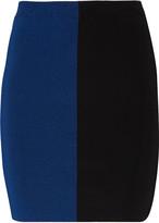 Alexander Wang Two-tone stretch-knit mini skirt
