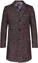Ted Baker Men's Rich Boucle Herringbone Overcoat