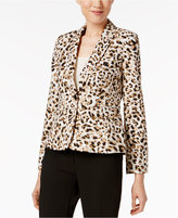 Calvin Klein Leopard-Print Blazer
