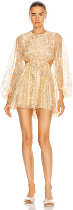 Alice McCall Magic Thinking Mini Dress in Gold | FWRD