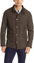 London Fog Men's Dallas Diamond Quilted Coat