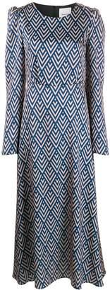 Black Coral Camila geometric-print dress
