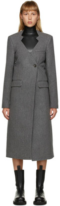 Peter Do Grey Wool Cut-Out Oversized Coat