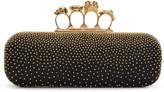 Alexander McQueen Black Studded Long Knuckle Box Clutch