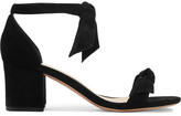 Alexandre Birman Clarita Bow-embellished Suede Sandals - Black