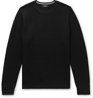Theory Panelled Knitted Sweater