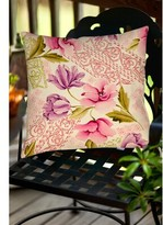 "Tulips and Lace Indoor/Outdoor Throw Pillow Manual Woodworkers & Weavers Size: 16"" H x 16"" W x 4"" D"