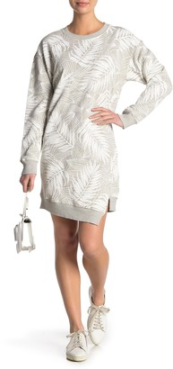 Current/Elliott The Breck Palm Print Sweatshirt Dress