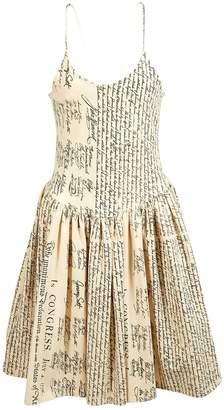 Jeremy Scott Ecru Cotton Dresses