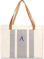 Cathy's Concepts Personalized Gray Stitched Extra-Large Tote