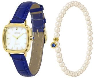 Ecclissi Facets Square Watch & Bracelet Set