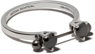 Delfina Delettrez 18kt white gold Two In One black diamond ring