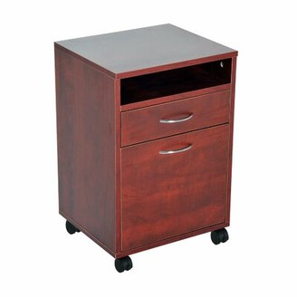 Lemaster 1-Drawer Storage Cabinet Ebern Designs Color: Brown