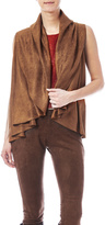 Look by M Faux Suede Shawl-Vest