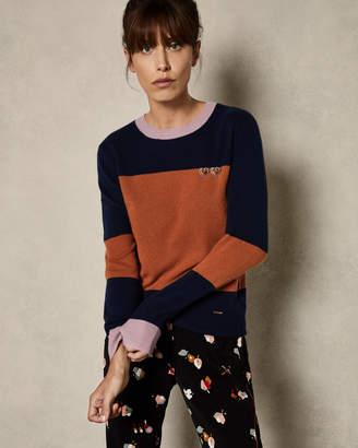 Ted Baker BRYONNY Cashmere colour block jumper