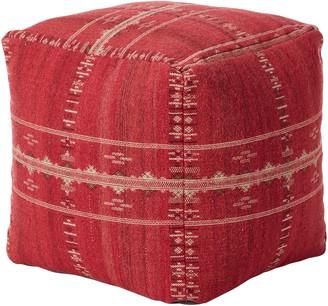 OKA Ithaca Hand-Woven Floor Cushion - Grenache