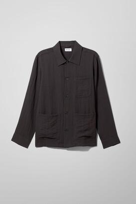 Weekday Josh Summer Overshirt - Black