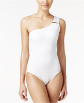 MICHAEL Michael Kors Essential One-Shoulder One-Piece Swimsuit