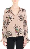 DAY Birger et Mikkelsen Floral Printed Silk Blend Top