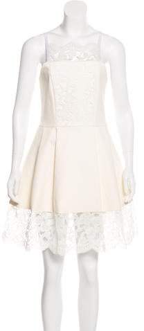 Alexis Cole Lace-Trimmed Dress w/ Tags