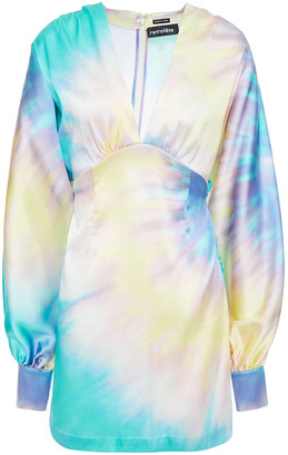 retrofete Aubrielle Tie-dyed Stretch-silk Satin Mini Dress