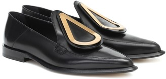 Loewe Drop leather loafers