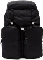 Prada Black Nylon Utility Backpack