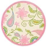 Safavieh Kids® Floral Vine 8-Foot Round Rug in Ivory/Pink