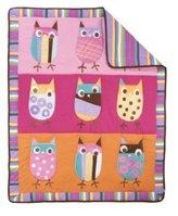 Kids Line Zutano Crib Set, Owl Bright, 4 Piece (Discontinued by Manufacturer)