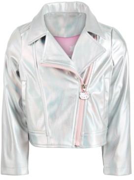 Hello Kitty Little Girls Metallic Moto Jacket