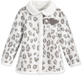First Impressions Baby Girls' Leopard-Pattern Intarsia Collared Cardigan, Only at Macy's