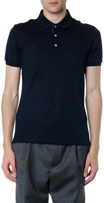 Salvatore Ferragamo Navy Blue Cotton Polo Shirt