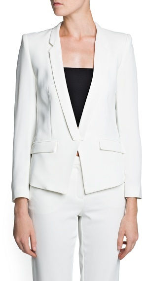 MANGO Tailored Fitted Blazer