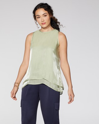 Vince Camuto Satin Tiered Top