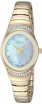 Ecstacy Women's Analog-Quartz Stainless-Steel Strap Gold 10 Casual Watch (Model: E8509-GBGM)