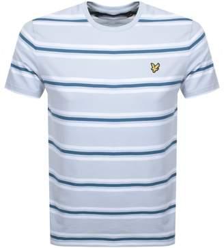 Lyle & Scott Multi Striped T Shirt Blue
