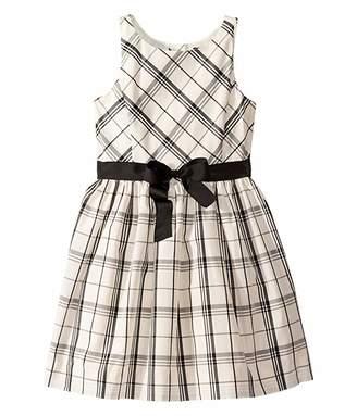 Polo Ralph Lauren Plaid Taffeta Dress (Big Kids)
