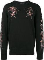 Alexander McQueen embroidered sweatshirt - men - Cotton - M