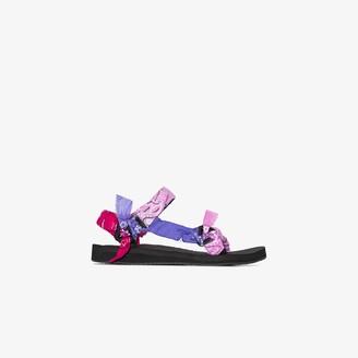Arizona Love Pink And Purple Bandana Knotted Flat Sandals